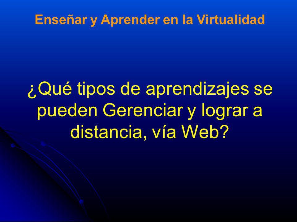 Enseñar y Aprender en la Virtualidad