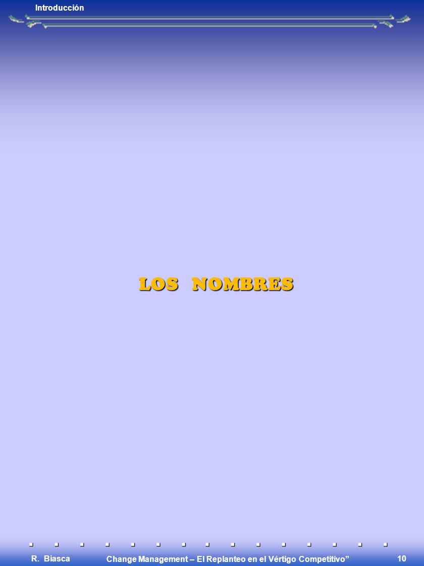 Introducción LOS NOMBRES R. Biasca