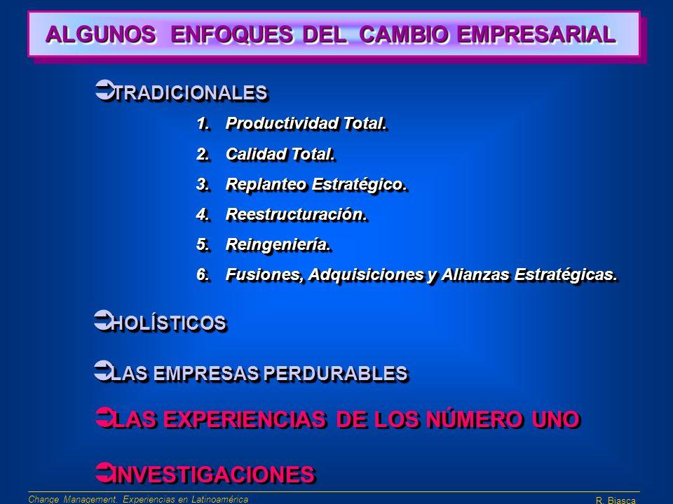 ALGUNOS ENFOQUES DEL CAMBIO EMPRESARIAL