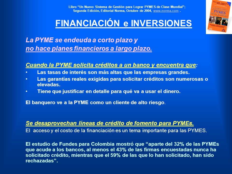 FINANCIACIÓN e INVERSIONES