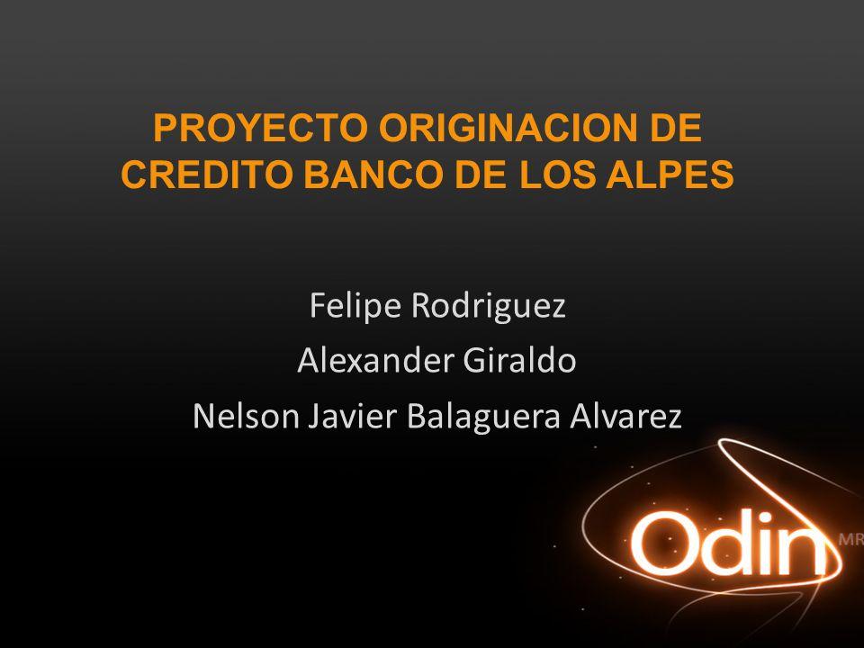 PROYECTO ORIGINACION DE CREDITO BANCO DE LOS ALPES