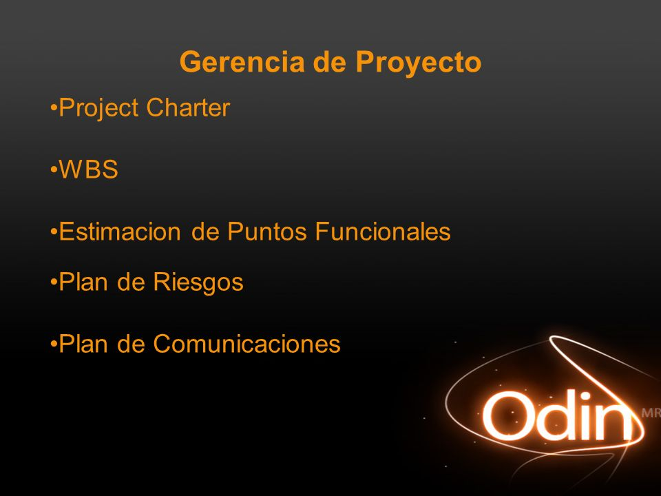 Gerencia de Proyecto Project Charter WBS