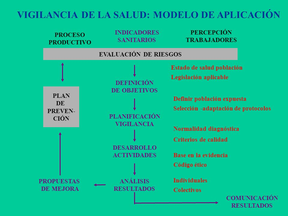 VIGILANCIA DE LA SALUD: MODELO DE APLICACIÓN