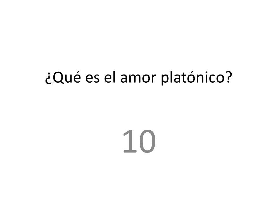 ¿Qué es el amor platónico