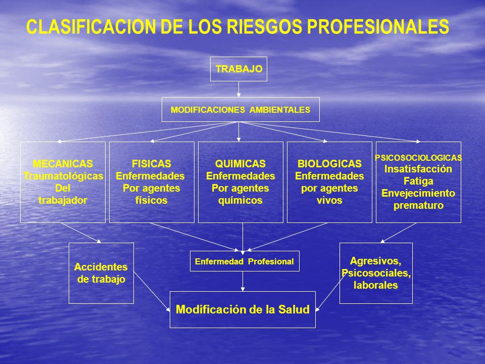 CLASIFICACION DE LOS RIESGOS PROFESIONALES