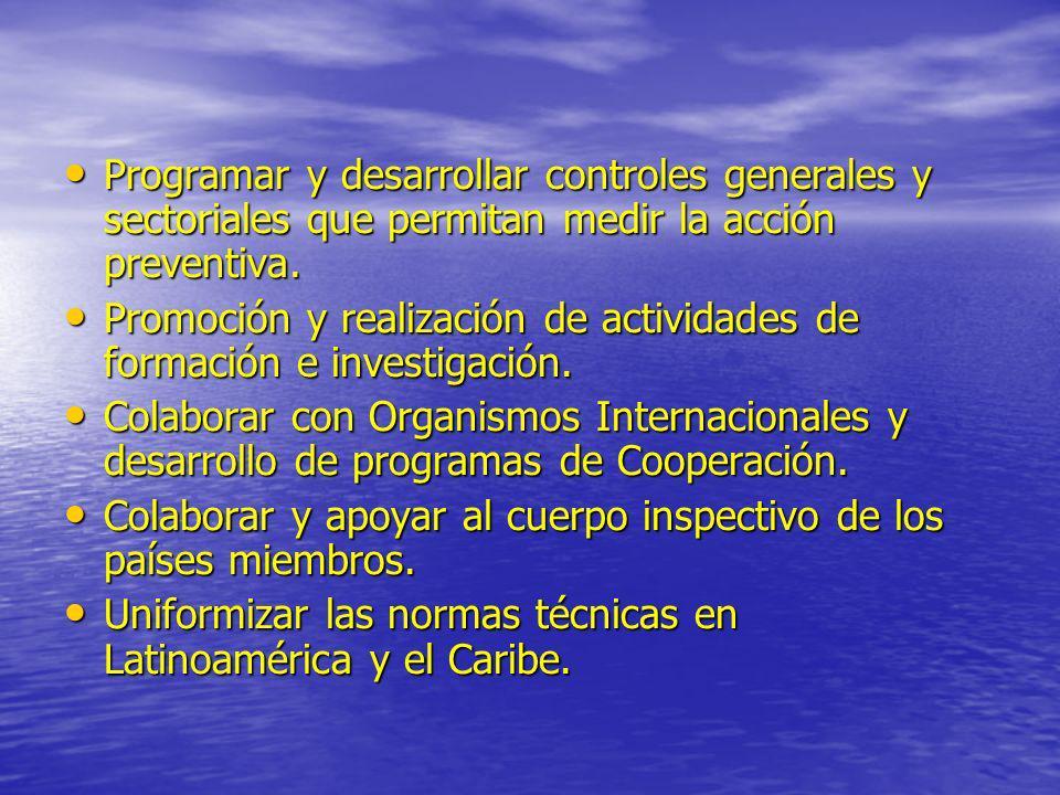 Programar y desarrollar controles generales y sectoriales que permitan medir la acción preventiva.