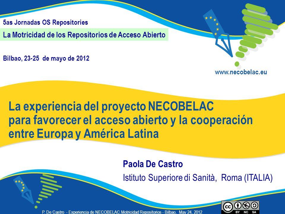 La experiencia del proyecto NECOBELAC