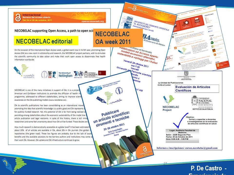 NECOBELAC OA week 2011 NECOBELAC editorial