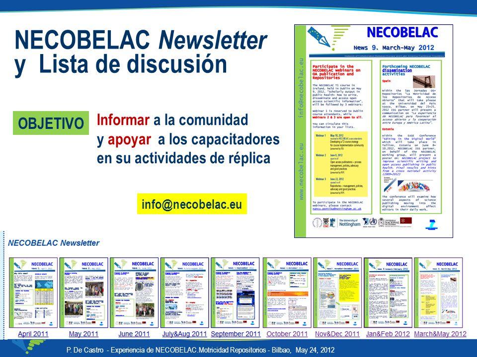 NECOBELAC Newsletter y Lista de discusión