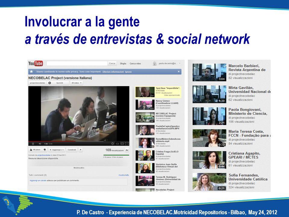 Involucrar a la gente a través de entrevistas & social network