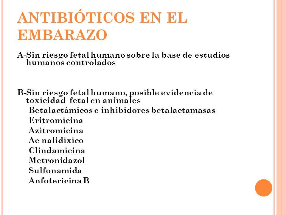 ANTIBIÓTICOS EN EL EMBARAZO