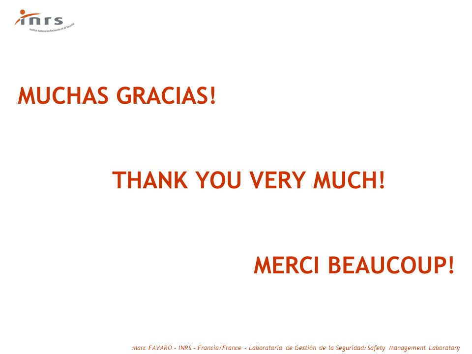 MUCHAS GRACIAS! THANK YOU VERY MUCH! MERCI BEAUCOUP!