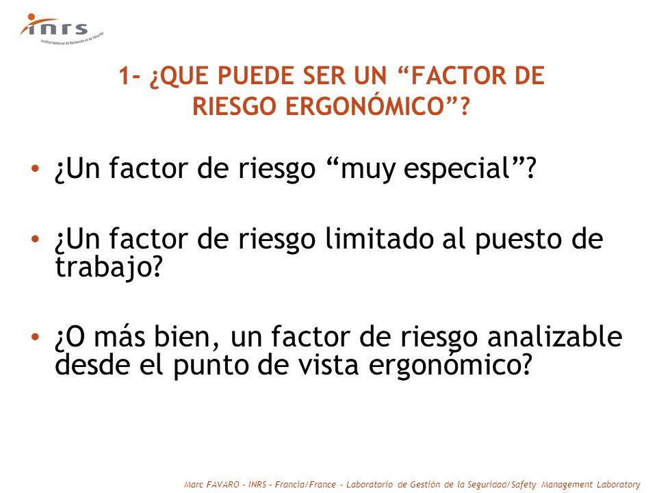 1- ¿QUE PUEDE SER UN FACTOR DE RIESGO ERGONÓMICO