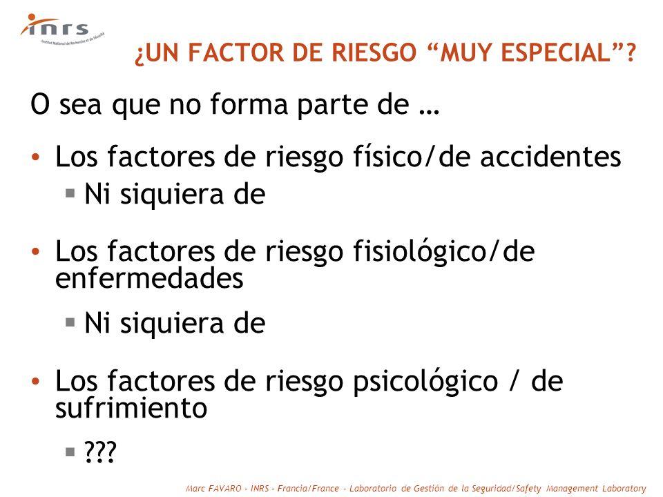 ¿UN FACTOR DE RIESGO MUY ESPECIAL