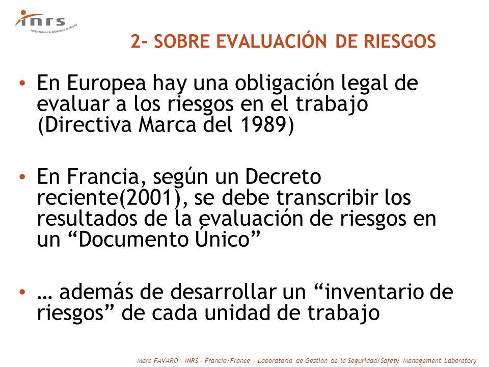 2- SOBRE EVALUACIÓN DE RIESGOS
