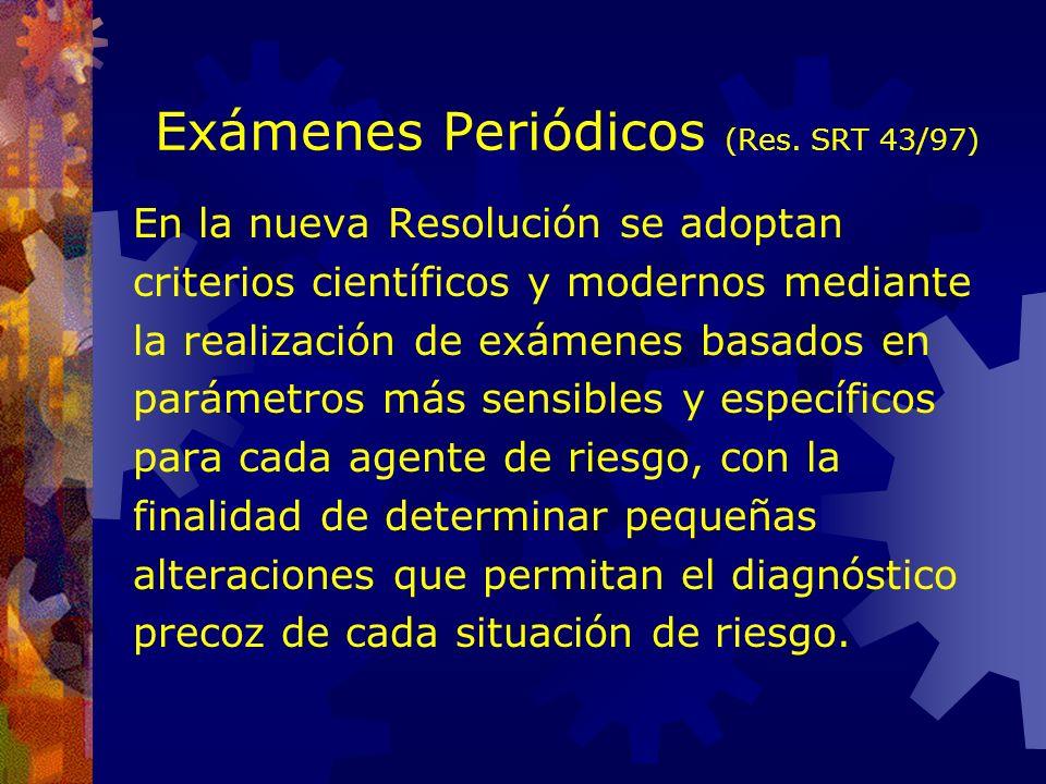 Exámenes Periódicos (Res. SRT 43/97)