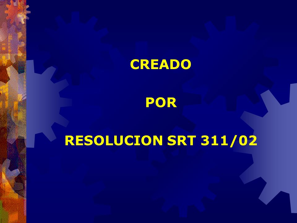 CREADO POR RESOLUCION SRT 311/02