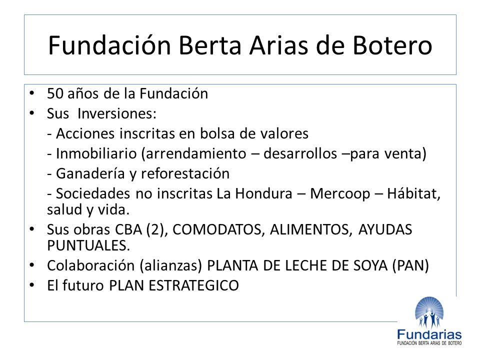 Fundación Berta Arias de Botero