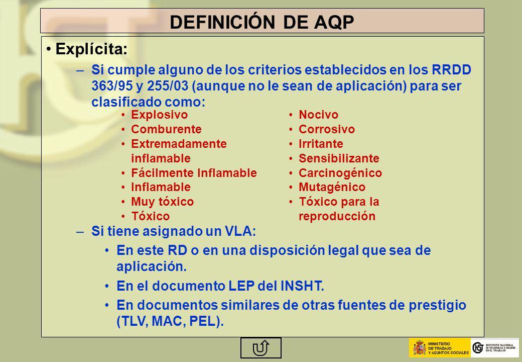 DEFINICIÓN DE AQP Explícita: