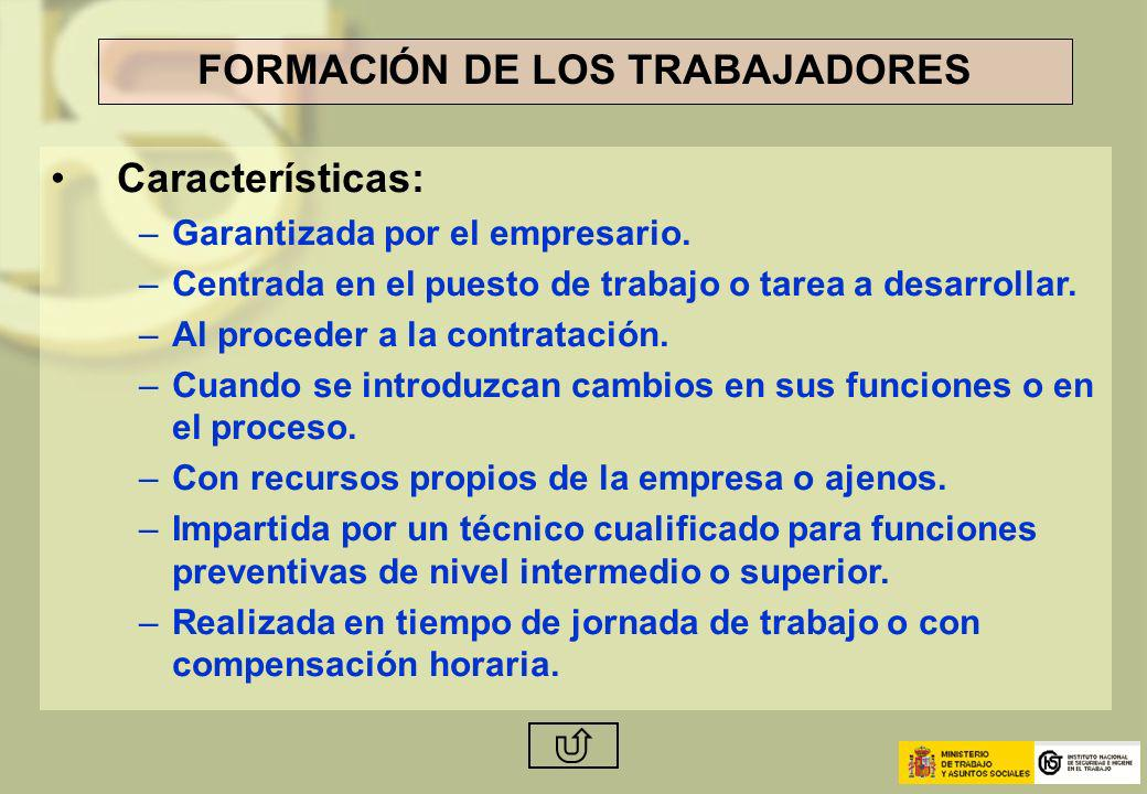 FORMACIÓN DE LOS TRABAJADORES