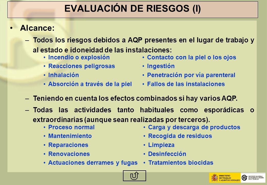 EVALUACIÓN DE RIESGOS (I)