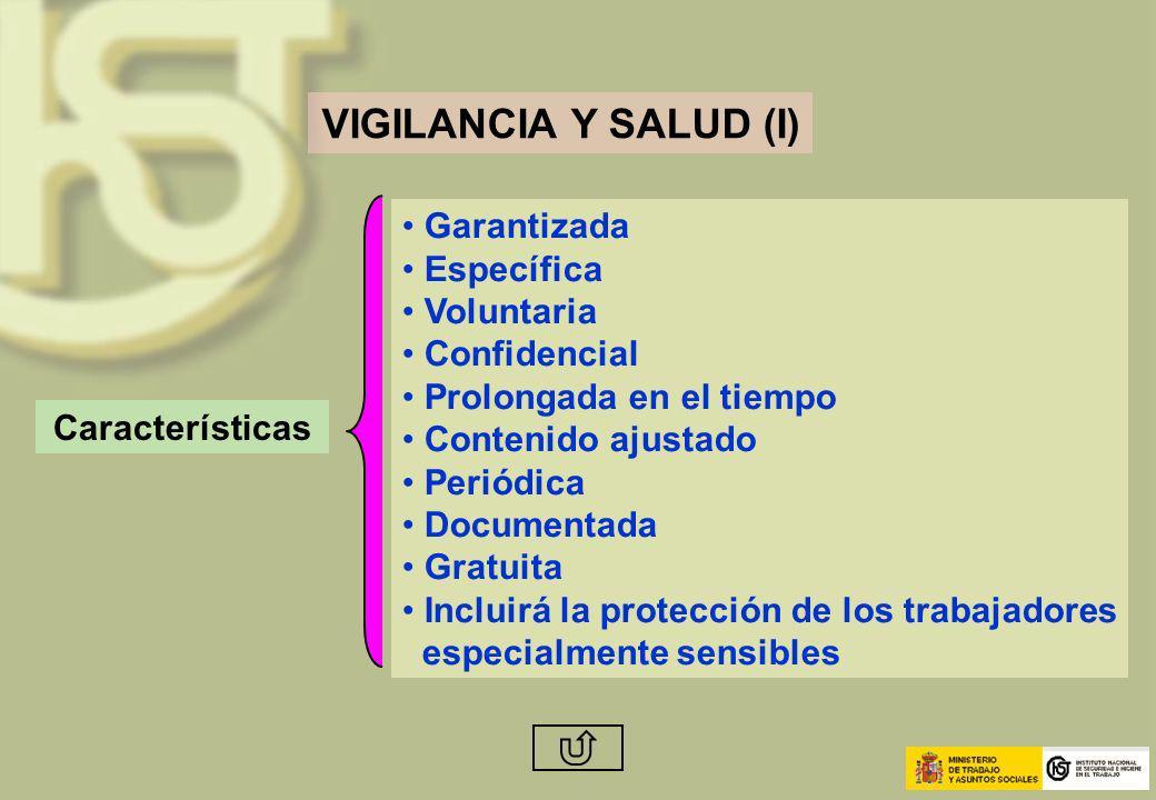 VIGILANCIA Y SALUD (I) Garantizada Específica Voluntaria Confidencial