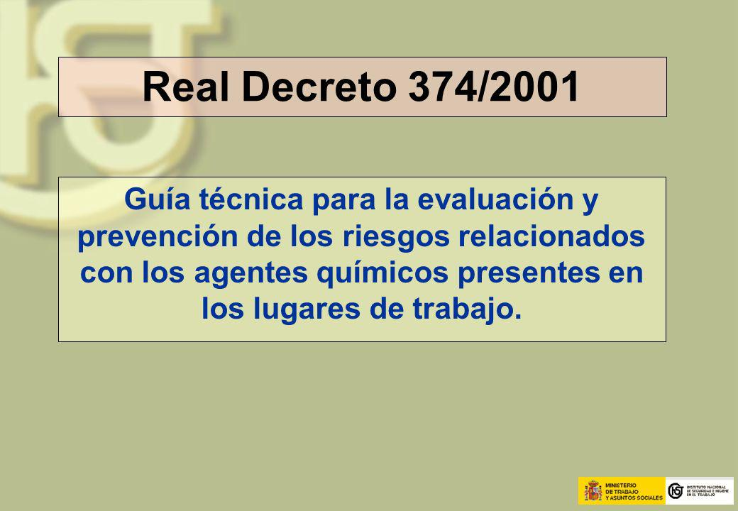 Real Decreto 374/2001