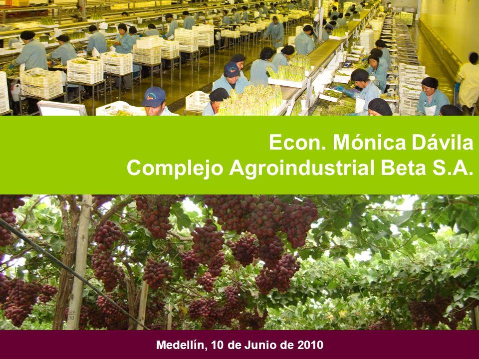 Econ. Mónica Dávila Complejo Agroindustrial Beta S.A.
