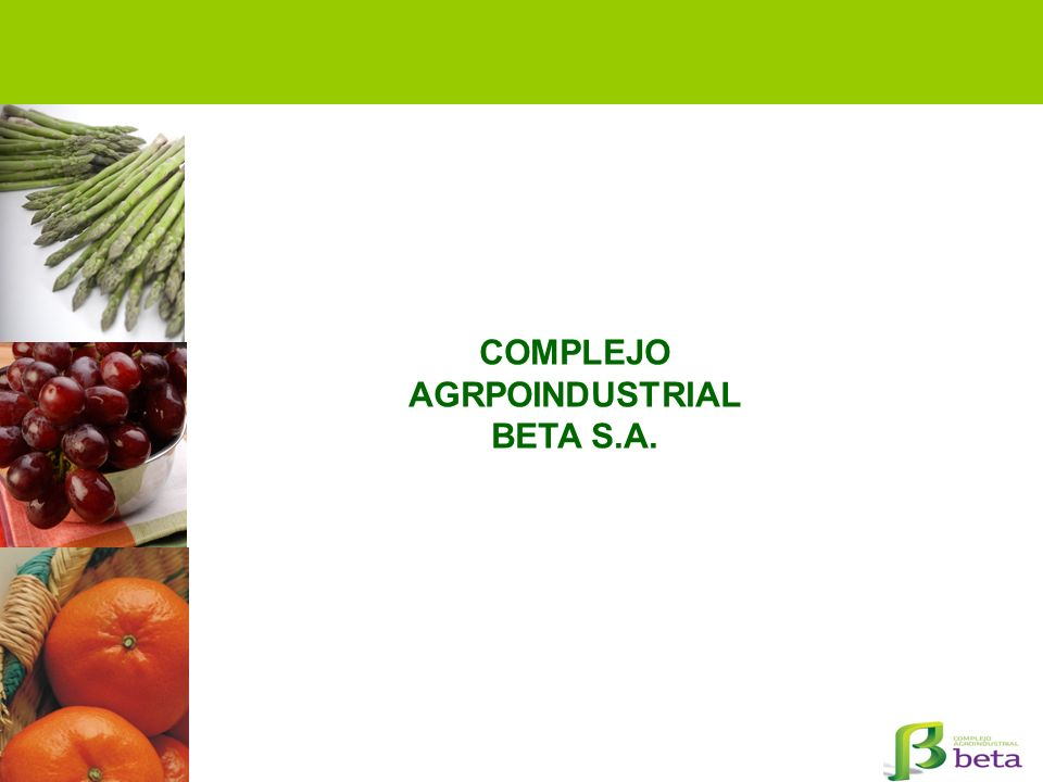 COMPLEJO AGRPOINDUSTRIAL BETA S.A.