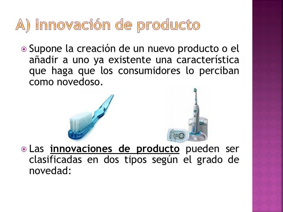 a) Innovación de producto