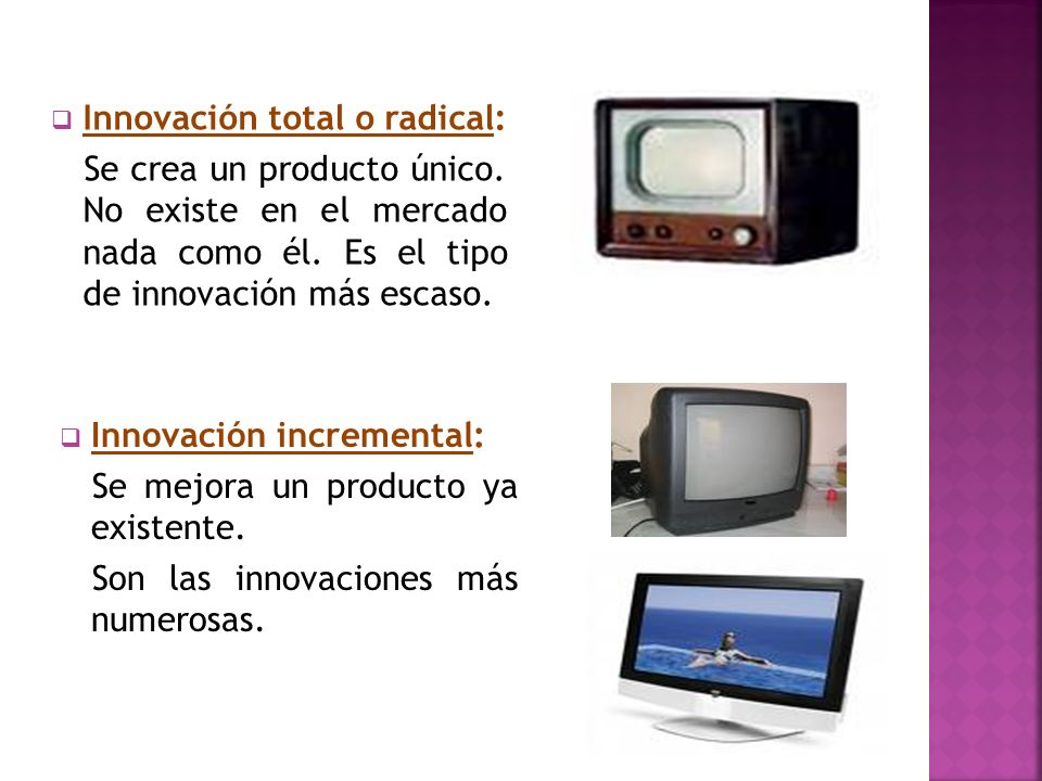 Innovación total o radical: