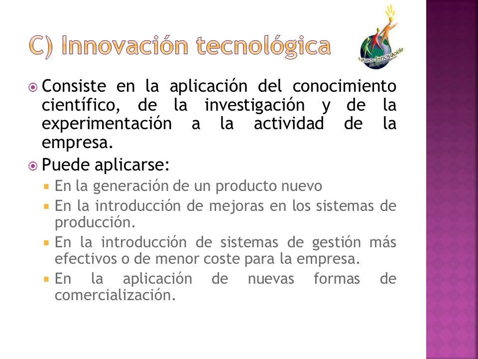 C) Innovación tecnológica