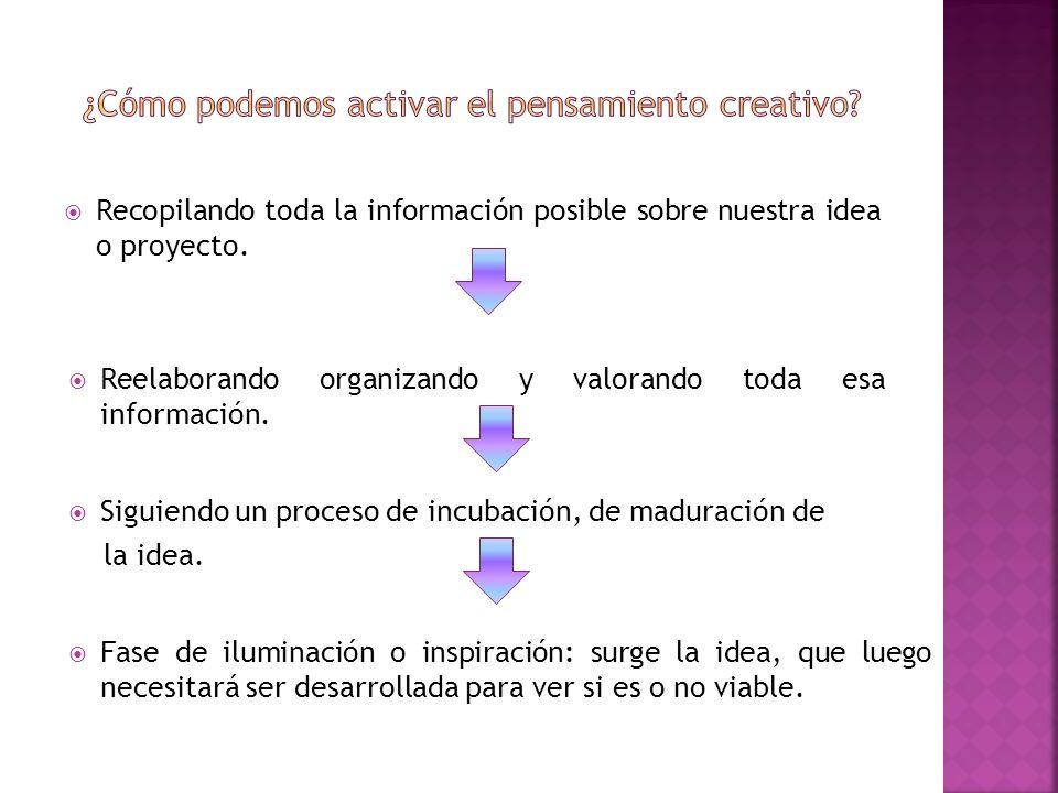 ¿Cómo podemos activar el pensamiento creativo