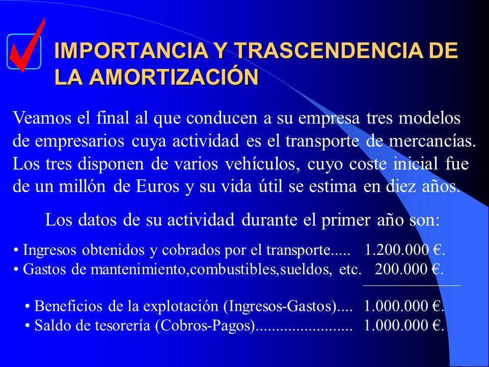 IMPORTANCIA Y TRASCENDENCIA DE LA AMORTIZACIÓN