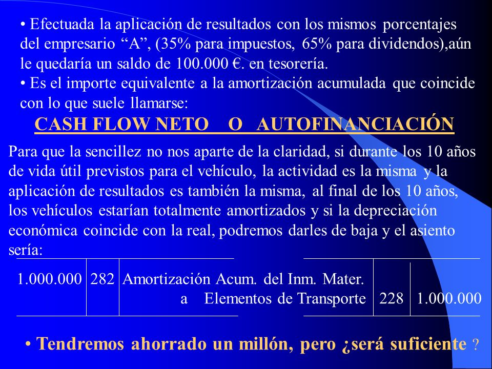 CASH FLOW NETO O AUTOFINANCIACIÓN