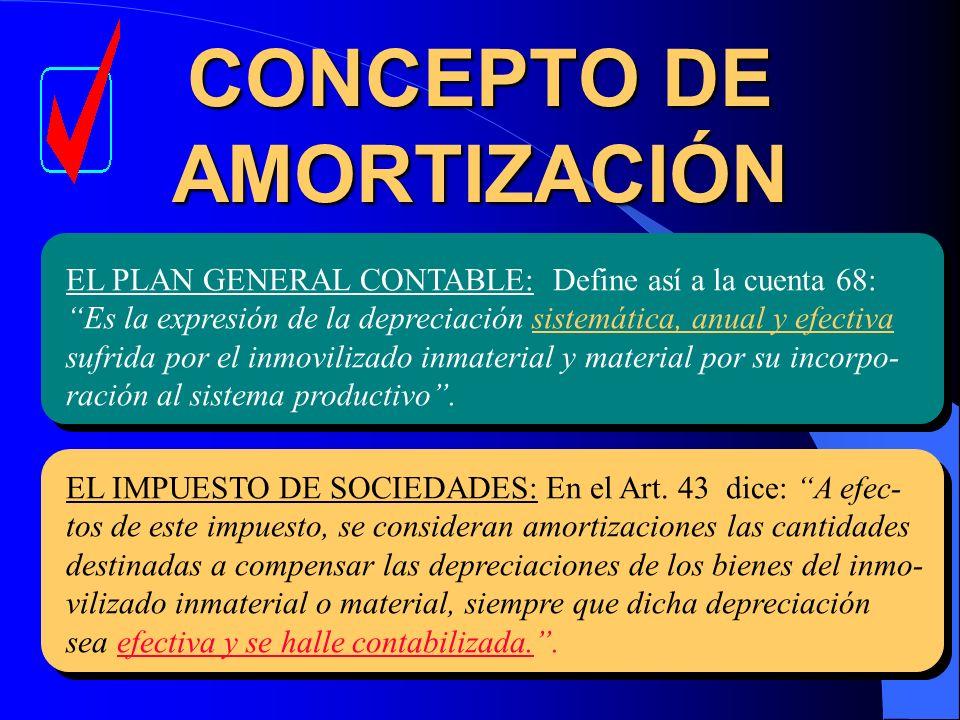 CONCEPTO DE AMORTIZACIÓN