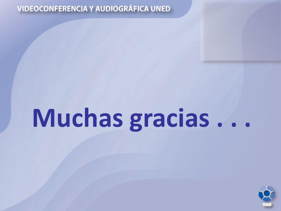 Muchas gracias . . .