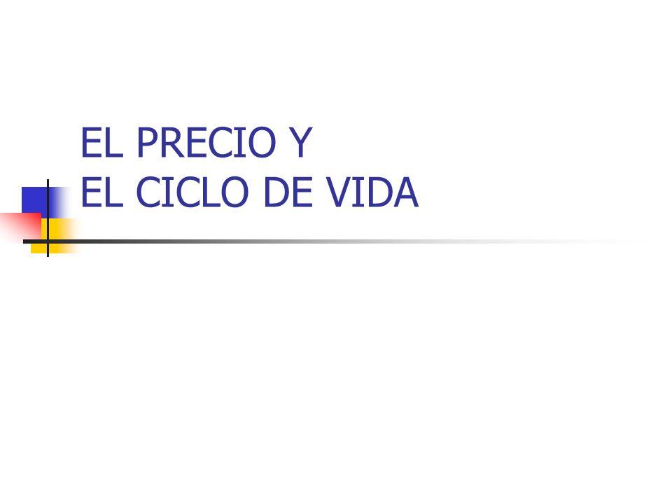 EL PRECIO Y EL CICLO DE VIDA