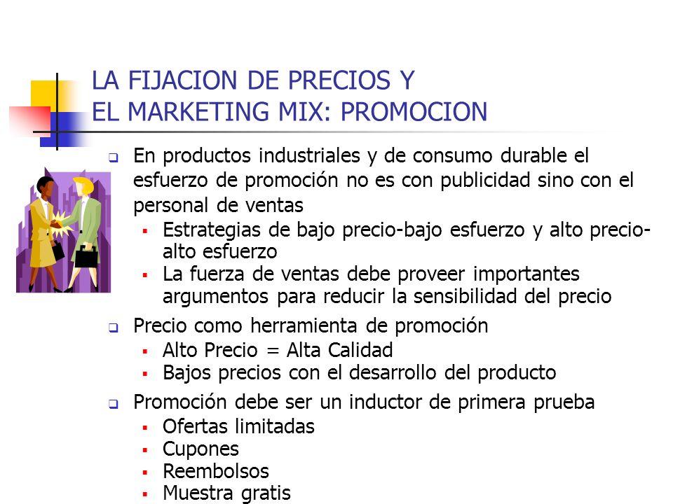 LA FIJACION DE PRECIOS Y EL MARKETING MIX: PROMOCION