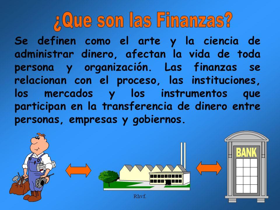 ¿Que son las Finanzas