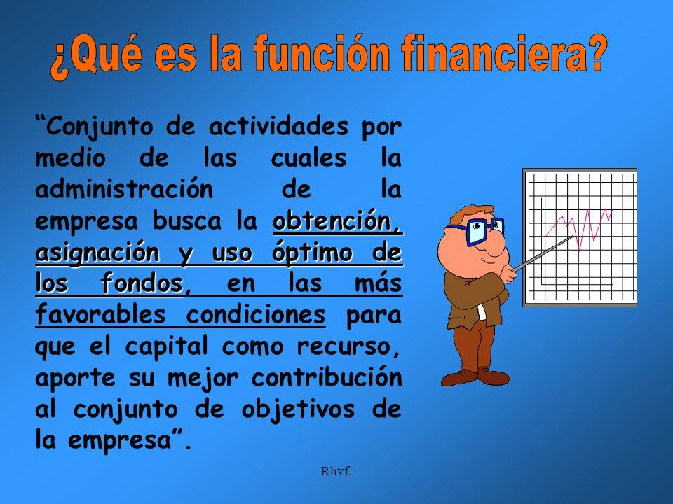 ¿Qué es la función financiera