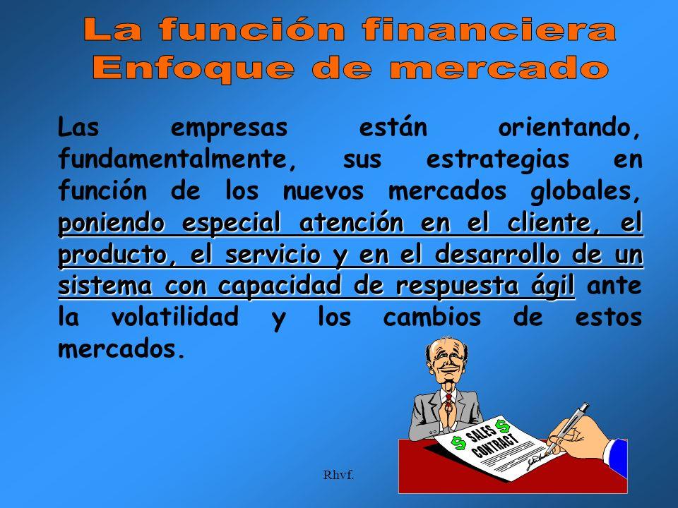 La función financiera Enfoque de mercado