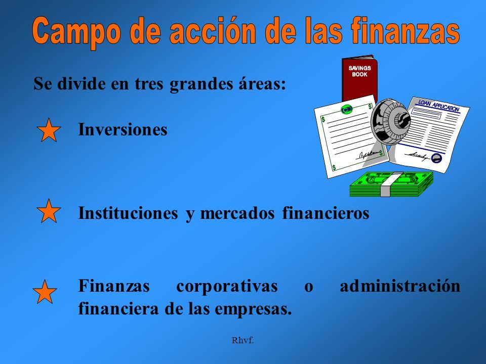 Campo de acción de las finanzas