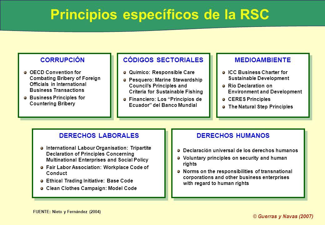 Principios específicos de la RSC