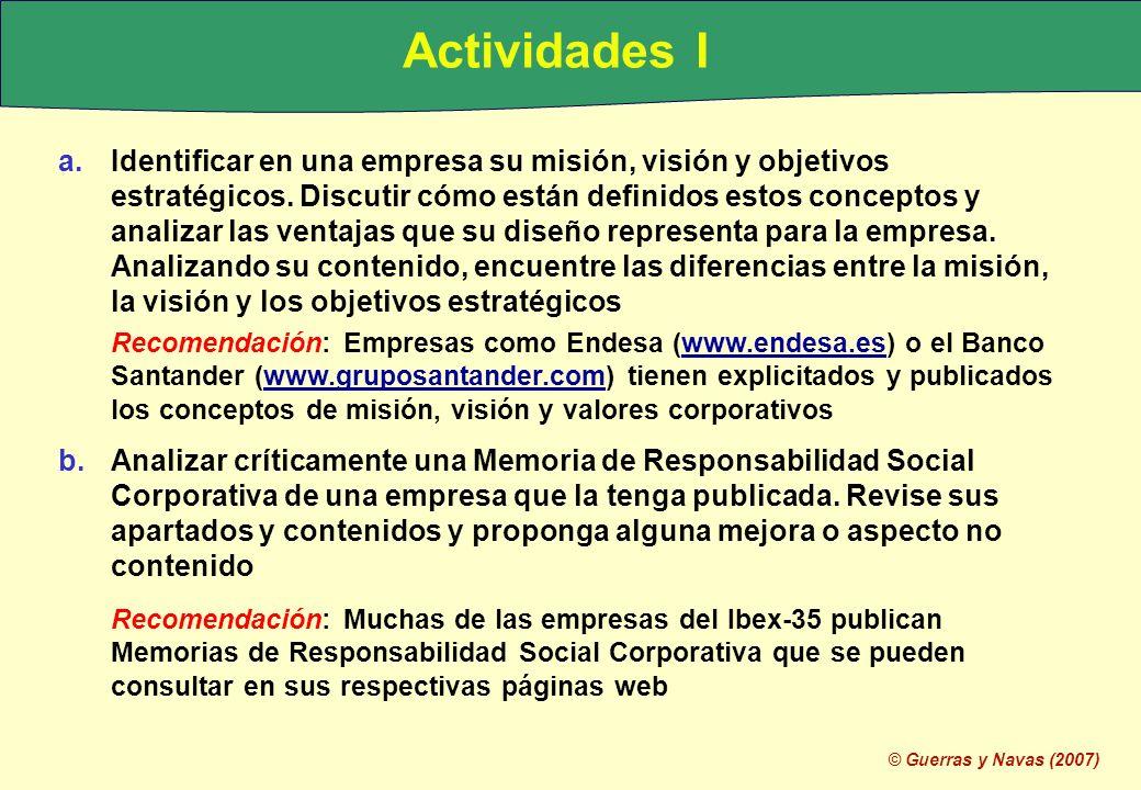 Actividades I