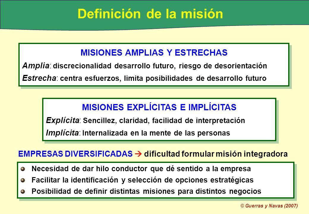 Definición de la misión