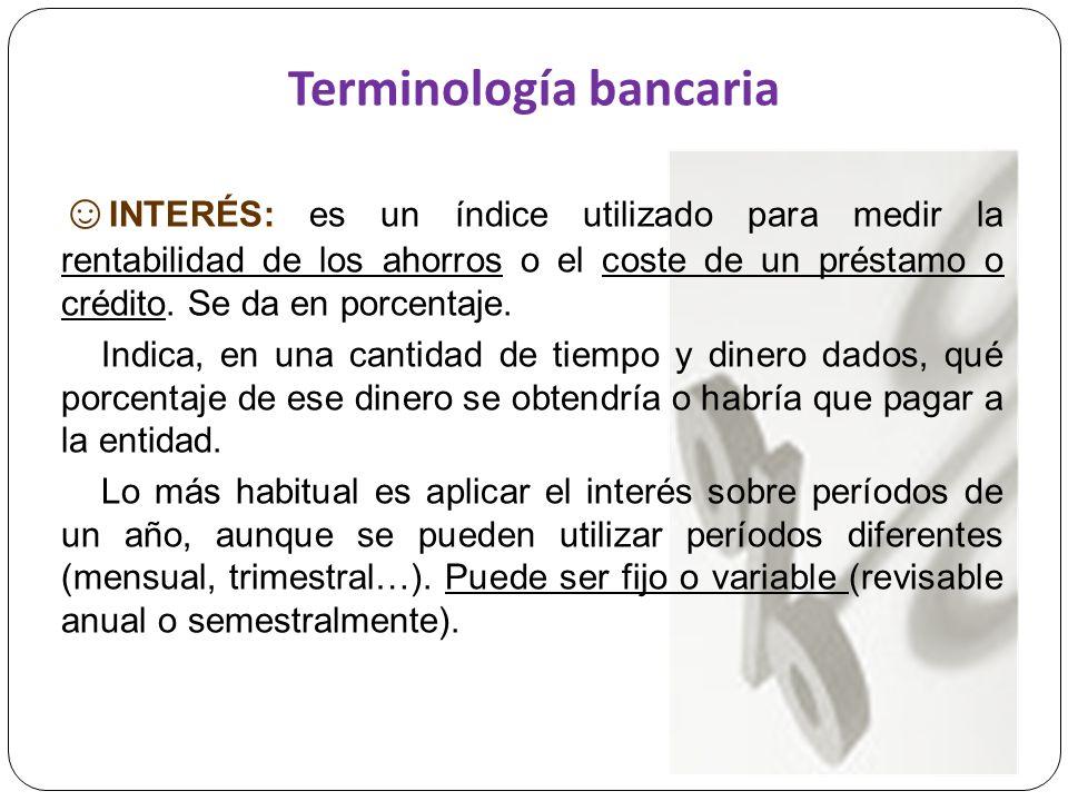 Terminología bancaria