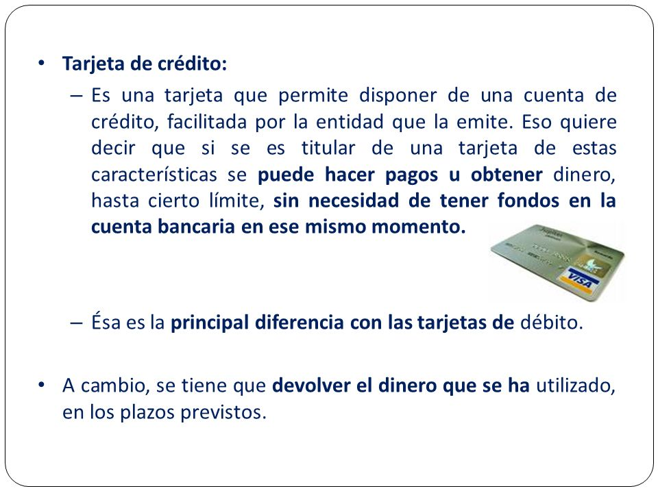 Tarjeta de crédito: