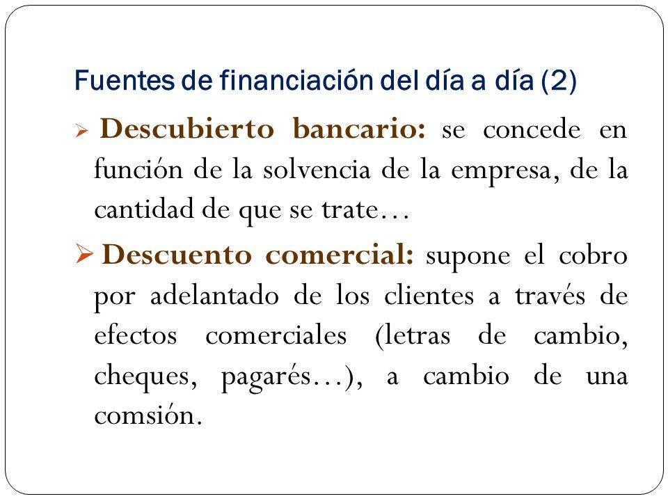 Fuentes de financiación del día a día (2)