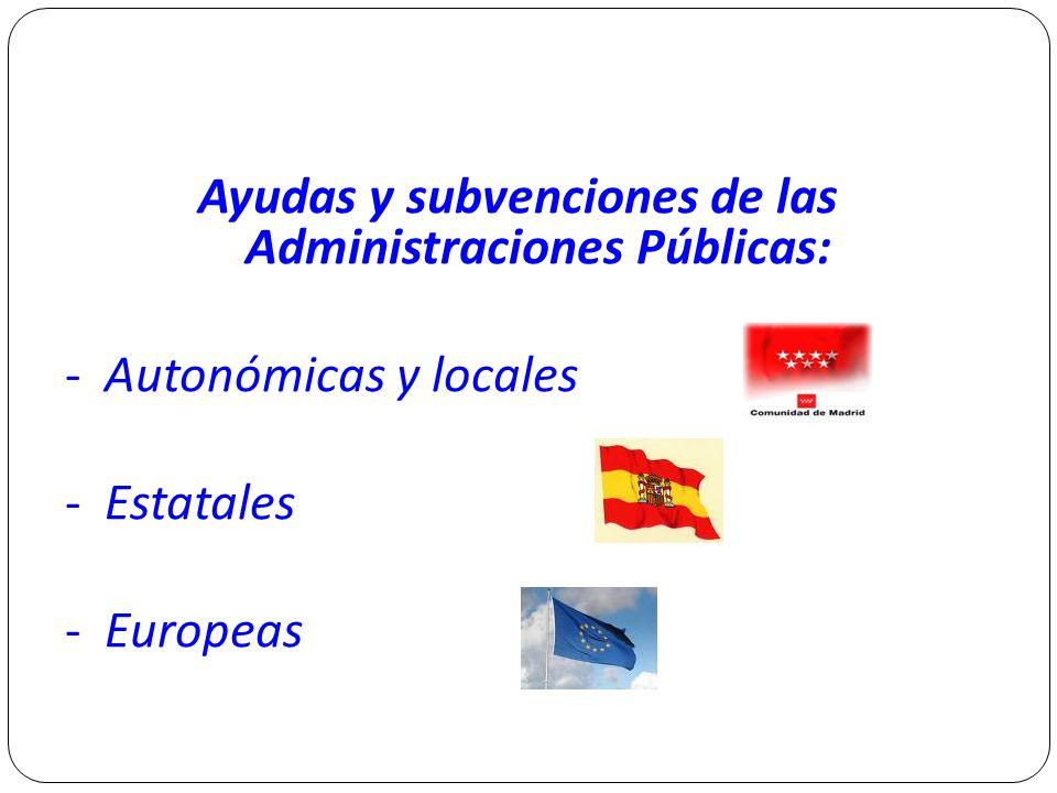 Ayudas y subvenciones de las Administraciones Públicas: